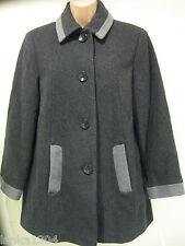 Eastex Dark Grey Wool Cashmere Winter Smart Over Coat (NEW) Size 10 £159.00