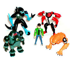BEN 10 Cartoon toy figure lot of 5, includes Four Arms, Wildmutt & XLR8