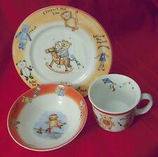 Doulton & Co. HARVEY THE BEAR Children's 3-Piece China; Plate, Bowl, Mug in Box
