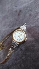 VINTAGE LADIES GRUEN PRECISION 14K SOLID GOLD W/DIAMONDS KEEPING TIME!