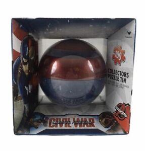 Marvel Avengers Captain America Civil War Thor Tin Shield Sphere 100 pc puzzle