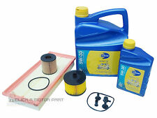 PEUGEOT 407 2.0 HDI 04-08 OIL AIR FUEL DIESEL FILTER & 6L ENGINE OIL SERVICE KIT