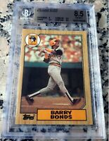 BARRY BONDS 1987 Topps GLOSSY Tiffany SP RARE Rookie Card RC BGS 8.5 9.5 HR King