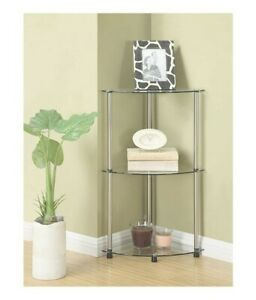 Convenience Concepts Designs2G Classic Glass 3 Tier Entryway Table,Glass