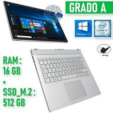 Microsoft Surface Book I7 16GB 512GB SSD Notebook Tablet 2 IN 1 Kipper W10
