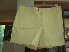 NWT Eddie Bauer Wm's Sz 16 Regular Yellow Chino Shorts