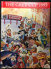 1993 CFL Grey Cup Program McMahon Stadium Eskimos vs Winnipeg Blue Bombers