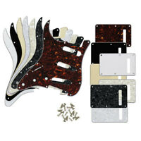 Left Handed Strat Style Guitar Pickguard SSS 11-Hole & Tremolo Cover & Screws