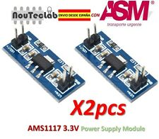 2pcs AMS1117 LM1117 4.5-7V turn 3.3V DC-DC Step Down Power Supply Module