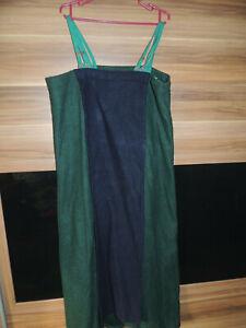 Mittelalter, Wikinger, Surcot Gr. L / XL, Wollfilz Trägerkleid grün blau Larp