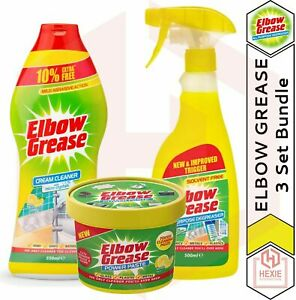 Elbow Grease - The Cleaning BUNDLE - Spray Degreaser, Power Paste, Cream Cleaner