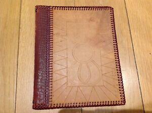 Vintage leather magazine folder