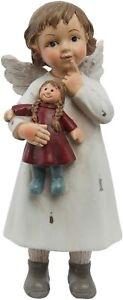 Angel Winter Child Decorative Figurine Christmas Cream Shabby Chic Vintage