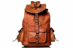 Real leather City Bag backpack rucksack briefcase travel bag handmade OVERNIGHT