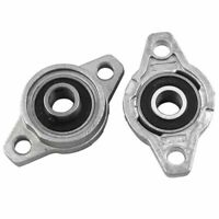 2Pcs 10mm Bore KFL000 Zinc Alloy Flange Pillow Block Bearing Self-aligning Kit#