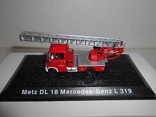 MERCEDES-BENZ L 319 METZ DL 18 FIRE POMPIERS BOMBEROS DEAGOSTINI ATLAS 1:72