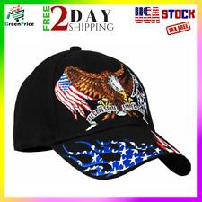 American Patriotic Hut mit Adler schwarz US Army Navy Air Force Veteranen Kappe Geschenk