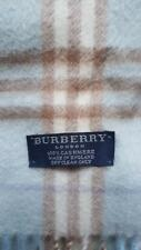 Authentic Baby blu BURBERRY 100% CASHMERE NOVA CHECK WOMEN'S sciarpa
