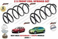 FOR SEAT IBIZA HATCHBACK + COUPE TDI 2008 > NEW 2 X FRONT COIL SPRINGS SET