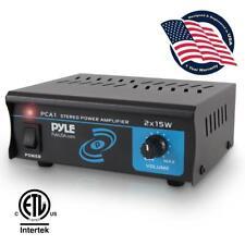 Pyle Pro Amplifier PCA1 Stereo 2 Channel Amplifier Speaker Amp 2 x 15W