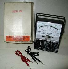 Rare Vintage Electro Industries High Sensitivity VOM Voltmeter Model 550 Excelle