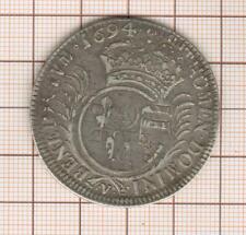 Escudo Luis XIV Con Aletas 1694V Troyes