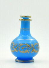 Flacon opaline bleue Charles X Jean B Desvignes ? opaline bottle Charles  X