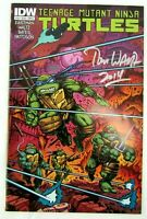 Teenage Mutant Ninja Turtles #18 Cover B 2011 IDW Comic Book Signed Tom Waltz