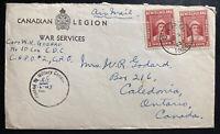 1943 CAPO 2 Newfoundland Censored Cover To Caledonia Canada Capt WR Godard