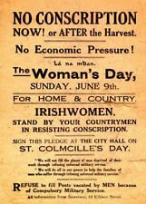 IRISH WOMEN STAND BY YOUR MEN IN RESISTING CONSCRIPTION Irish Propaganda Poster