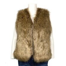 NEW Sole Society Faux Fur Brown Vest Size OS/L
