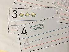 Wipe N Write Numbers 0- 25 - Laminated Card - Pre-school- Kindergarten
