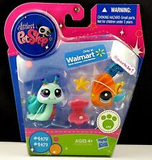 Littlest Pet Shop Sparkle Angel Fish 2479 Snail 2478 Walmart 2011 More LPS Avail