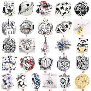 European silver Fashion charms pendant For s925 silver bracelet bangle chain