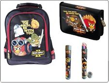 ANGRY BIRDS STAR WARS II SET: School BACKPACK+PENCIL CASE+12 CRAYONS Official