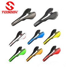 TOSEEK 3K Carbon Fiber Road Mountain Track Bike Saddles Seats Glossy matt saddle