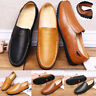 MENS MOCCASINS SLIPPERS LOAFERS FAUX LEATHER FUR LINED WINTER DRIVING SHOES SIZE