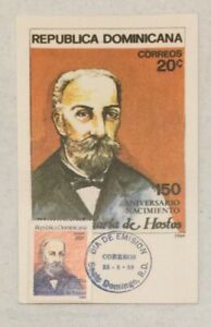 1989 Scott #1061 Eugenio Maria De Hostos FDC, Puerto Rico, Dominican Republic
