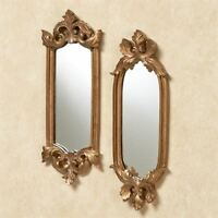 Antique Gold Accent Wall Mirrors Mirror Set Home Decor Shabby Chic Ornate