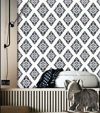 Self Adhesive Peel and Stick Wallpaper White Black Contact Paper Film Decor Home