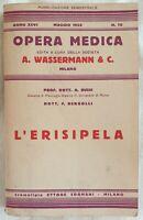 BUSSI BERGOLLI L'ERISIPELA DERMATOLOGIA EGYPT 1935 MEDICINA MEDICINE DERMATOLOGY