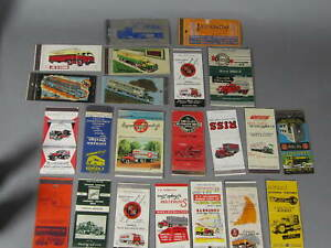 22 Trucking Company Matchcovers / Some Neat Ones
