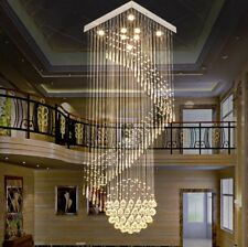 Customized TOP LED crystal ceiling lamp living room crystal villa square pendant