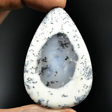 Cts. 94.25 Natural Scenic Dendritic Opal Pear Cabochon Cab Loose Gemstone