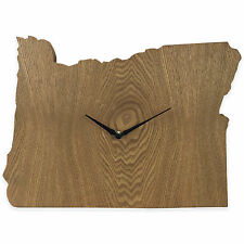 Oregon State Shaped Wood Grain Wall Clock Collection