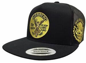 El Centenario De Guerrero Logo Federal A Lado 2 Logos Hat BLACK Mesh Mexico