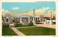 WB Postcard CO D655 The Greek Theatre Civic Center Denver Colorado Cancel 1951