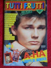 rivista TUTTI FRUTTI 41/1986 Poster Madonna A-Ha Lucio Dalla Sting King No cd