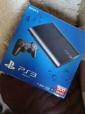 Sony Playstation 3 Super Slim 500GB Schwarz Spielekonsole (mit Controller)