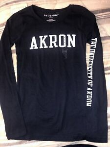 The University Of Akron Zips Long Sleeve Womens S Shirt By Redshirt New Tag Blue